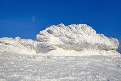Paesaggio meraviglioso di inverno un giorno soleggiato Struttura irreale, fantastica, mistica, congelata con gelo, ghiaccio e nev fotografia stock libera da diritti
