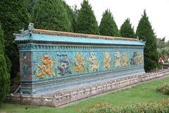 Paesaggio miniatura della parete di nove draghi Immagini Stock