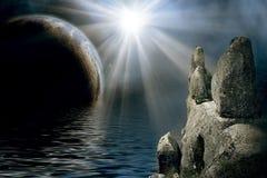 Paesaggio mistico royalty illustrazione gratis