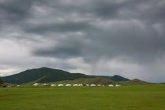 Paesaggio mongolo appena prima la tempesta Fotografie Stock Libere da Diritti