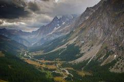 Paesaggio Mont-Blanc, alpi italiane Immagini Stock