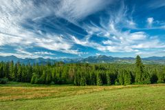 Paesaggio, montagne di Tatra fotografia stock