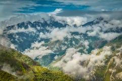 Paesaggio montagnoso in Wamena Fotografia Stock Libera da Diritti