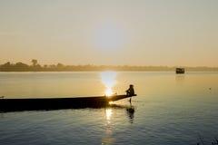 Paesaggio, natura, tramonto Fotografie Stock Libere da Diritti