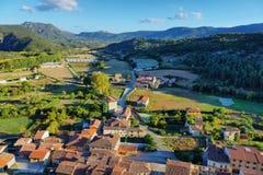 Paesaggio naturale, campi di Frias a Burgos, Spagna fotografia stock libera da diritti