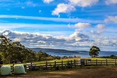 Paesaggio naturale da un'azienda agricola fotografia stock libera da diritti