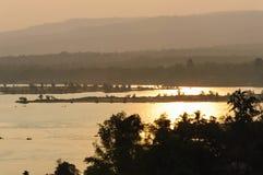 Paesaggio naturale della montagna di alba di vista Immagini Stock Libere da Diritti