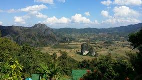 Paesaggio naturale della Tailandia Fotografia Stock Libera da Diritti