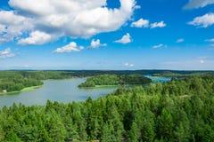 Paesaggio naturale nella terra di Ã…, Finlandia Immagine Stock