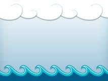 Paesaggio nautico del fumetto royalty illustrazione gratis