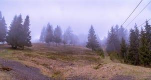 Paesaggio nebbioso della montagna Immagine Stock Libera da Diritti