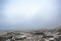 Paesaggio nebbioso di inverno Immagini Stock Libere da Diritti