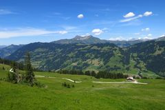 Paesaggio nel Bernese Oberland Fotografia Stock Libera da Diritti