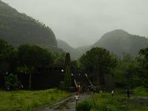 Paesaggio nel giorno della pioggia Fotografie Stock