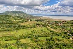 Paesaggio nel lago Balaton Fotografia Stock