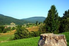 Paesaggio nel lato del paese Fotografia Stock Libera da Diritti