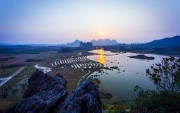 Paesaggio nel parco di HuiXian Immagini Stock Libere da Diritti