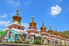 Paesaggio nel Tibet Fotografie Stock