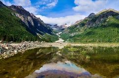Paesaggio nel Tibet della Cina Fotografia Stock