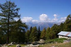 Paesaggio nel Tirolo del sud, Italia Immagini Stock Libere da Diritti