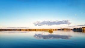 Paesaggio nel Ural, il fiume Irtysh, Russia della primavera, Fotografia Stock Libera da Diritti
