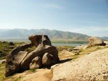 Paesaggio nell'Uzbekistan. fotografia stock libera da diritti
