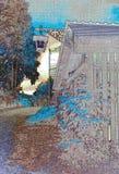 Paesaggio nella luce infrarossa Fotografie Stock Libere da Diritti