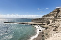 Paesaggio nella penisola di Valdes fotografia stock