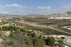 Paesaggio nella provincia di Novelda di Alicante Fotografie Stock Libere da Diritti