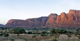 Paesaggio nella provincia di Tigray, Etiopia Fotografia Stock