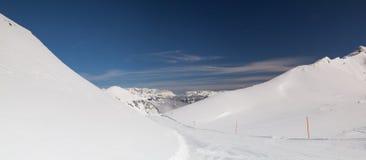 Paesaggio nella stazione sciistica, cattivo Hofgastein, Austria di inverno Fotografia Stock Libera da Diritti