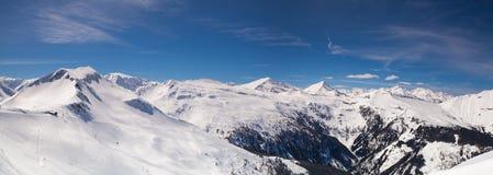 Paesaggio nella stazione sciistica, cattivo Hofgastein, Austria di inverno Immagini Stock