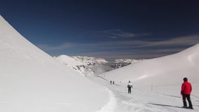 Paesaggio nella stazione sciistica, cattivo Hofgastein, Austria di inverno stock footage