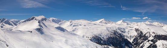 Paesaggio nella stazione sciistica, cattivo Hofgastein, Austria di inverno Fotografie Stock Libere da Diritti