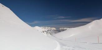 Paesaggio nella stazione sciistica, cattivo Hofgastein, Austria di inverno Fotografie Stock