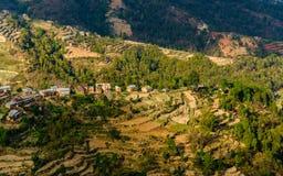 Paesaggio nella valle di Kathmandu, Nepal Fotografia Stock