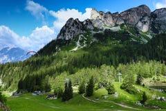 Paesaggio nelle alpi, area di Achensee, Tirolo, Austria della montagna Immagine Stock Libera da Diritti