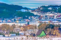 Paesaggio nelle alpi di Dinaric, Kupres di inverno Fotografia Stock