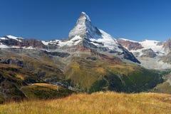 Paesaggio nelle alpi svizzere Immagine Stock