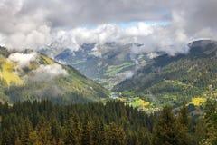 Paesaggio nelle alpi svizzere, Svizzera Fotografie Stock