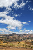 Paesaggio nelle Ande del Perù Fotografia Stock