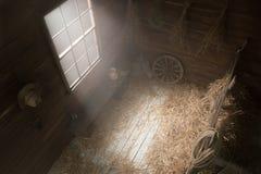 Paesaggio nello studio del granaio del villaggio Fotografia Stock Libera da Diritti