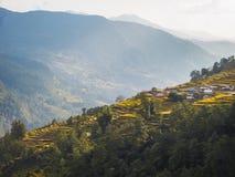 Paesaggio nepalese Fotografia Stock