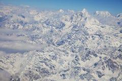 Paesaggio nepalese dell'alta montagna Immagini Stock