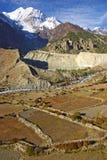 Paesaggio nepalese pittoresco Fotografia Stock