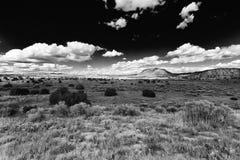 Paesaggio nero del cielo Fotografia Stock