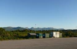 Paesaggio Nesjestranda della Norvegia fotografia stock libera da diritti