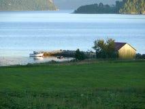 Paesaggio Nesjestranda della Norvegia fotografie stock libere da diritti