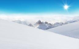 Paesaggio nevoso alpino di inverno Immagine Stock Libera da Diritti