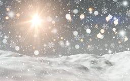 paesaggio nevoso 3D royalty illustrazione gratis